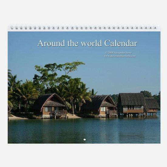Around the world wall calendar 3