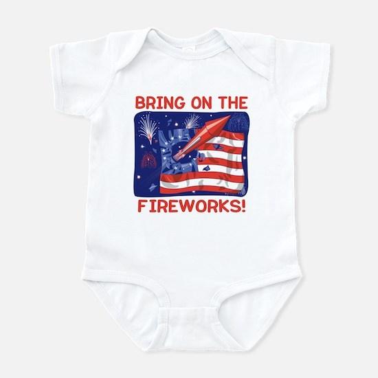 BRING ON THE FIREWORKS! Infant Bodysuit