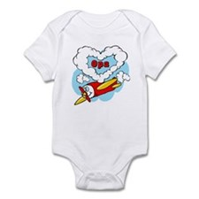 Love Opa Cute Airplane Infant Bodysuit