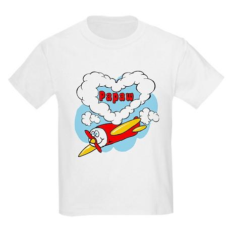 Love Papaw Cute Airplane Kids Light T-Shirt