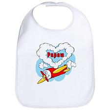 Love Papaw Cute Airplane Bib