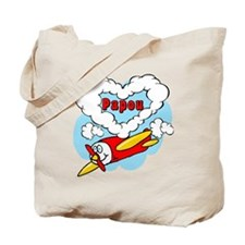 Love Papou Cute Airplane Tote Bag
