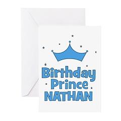 Birthday Prince Nathan! Greeting Cards (Pk of 20)