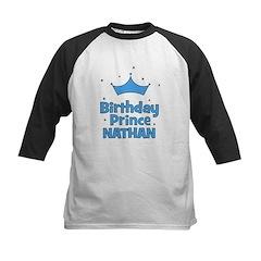Birthday Prince Nathan! Kids Baseball Jersey