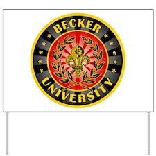 Becker German Last Name University Yard Sign