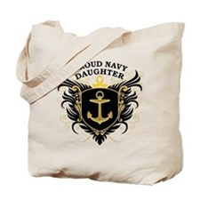 Proud Navy Daughter Tote Bag