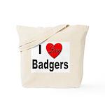 I Love Badgers Tote Bag