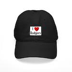 I Love Badgers Black Cap