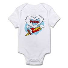 Love Poppy Cute Airplane Infant Bodysuit