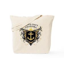 Proud Navy Grandma Tote Bag