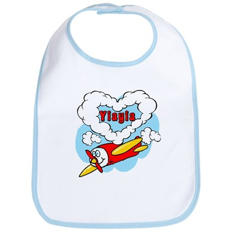 Love YiaYia Cute Airplane Bib