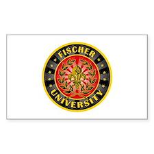 Fischer German Last Name University Bumper Stickers