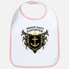 Proud Navy Daughter Bib