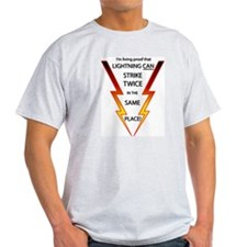 Lightning Strikes Twice Ash Grey T-Shirt