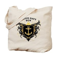 Proud Navy Son Tote Bag
