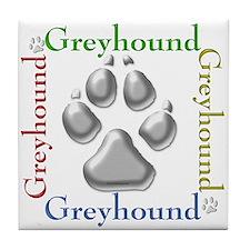 Greyhound Name2 Tile Coaster