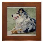 Framed Tile Australian Shepherd