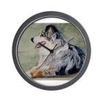 Wall Clock Australian Shepherd
