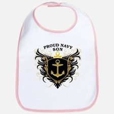 Proud Navy Son Bib