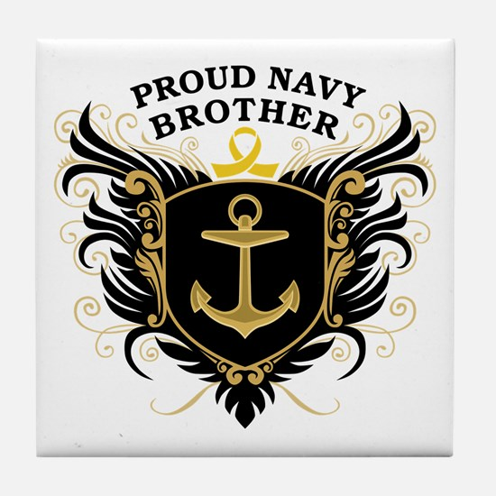 Proud Navy Brother Tile Coaster