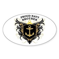 Proud Navy Brother Oval Decal