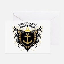 Proud Navy Brother Greeting Card