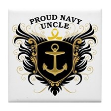 Proud Navy Uncle Tile Coaster