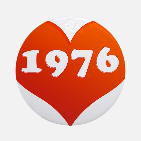 My heart is 1976 Ornament (Round)