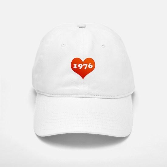 My heart is 1976 Baseball Baseball Cap