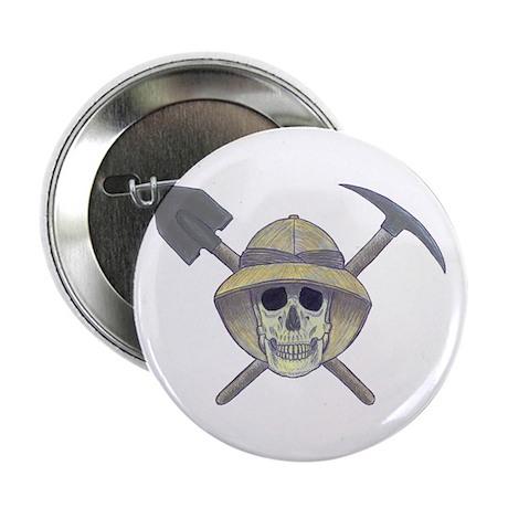 """Paleontology Skull 2.25"""" Button"""