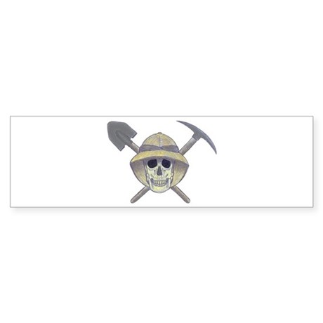 Paleontology Skull Bumper Sticker