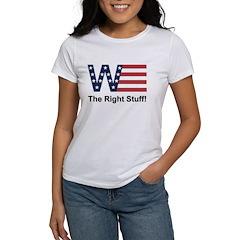 W the Right Stuff Tee