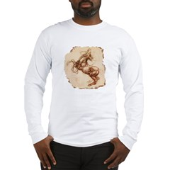 Rearing Horse Art Long Sleeve T-Shirt
