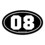 #08 Euro Bumper Oval Sticker -Black