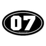 #07 Euro Bumper Oval Sticker -Black