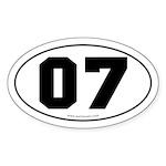 #07 Euro Bumper Oval Sticker -White