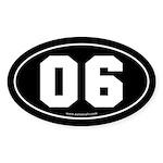 #06 Euro Bumper Oval Sticker -Black