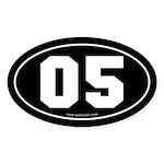 #05 Euro Bumper Oval Sticker -Black