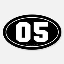 #05 Euro Bumper Oval Sticker -Black
