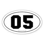 #05 Euro Bumper Oval Sticker -White