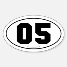 #05 Euro Bumper Oval Sticker -White