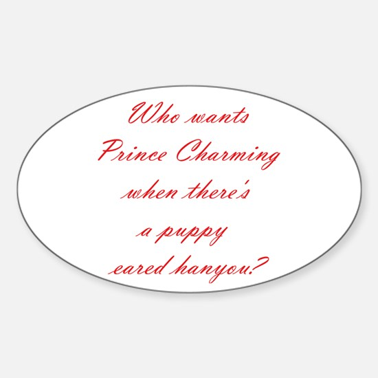 Prince Charming Puppy Eared Hanyou Oval Decal