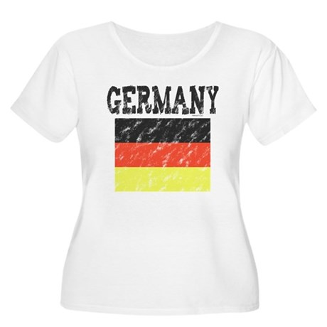Vintage Germany Women's Plus Size Scoop Neck T-Shi