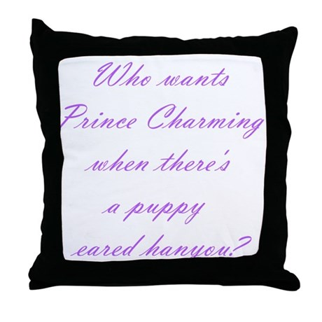 Prince Charming Puppy Eared Hanyou Throw Pillow