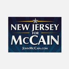 New Jersey for McCain Rectangle Magnet