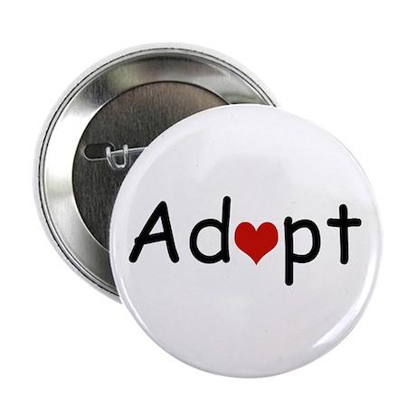 """Adopt Heart 2.25"""" Button (10 pack)"""