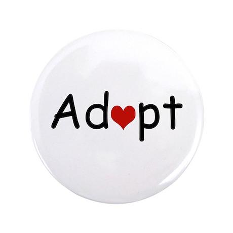 """Adopt Heart 3.5"""" Button"""