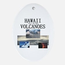 ABH Hawaii Volcanoes Oval Ornament