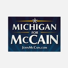 Michigan for McCain Rectangle Magnet