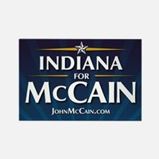 Indiana for McCain Rectangle Magnet